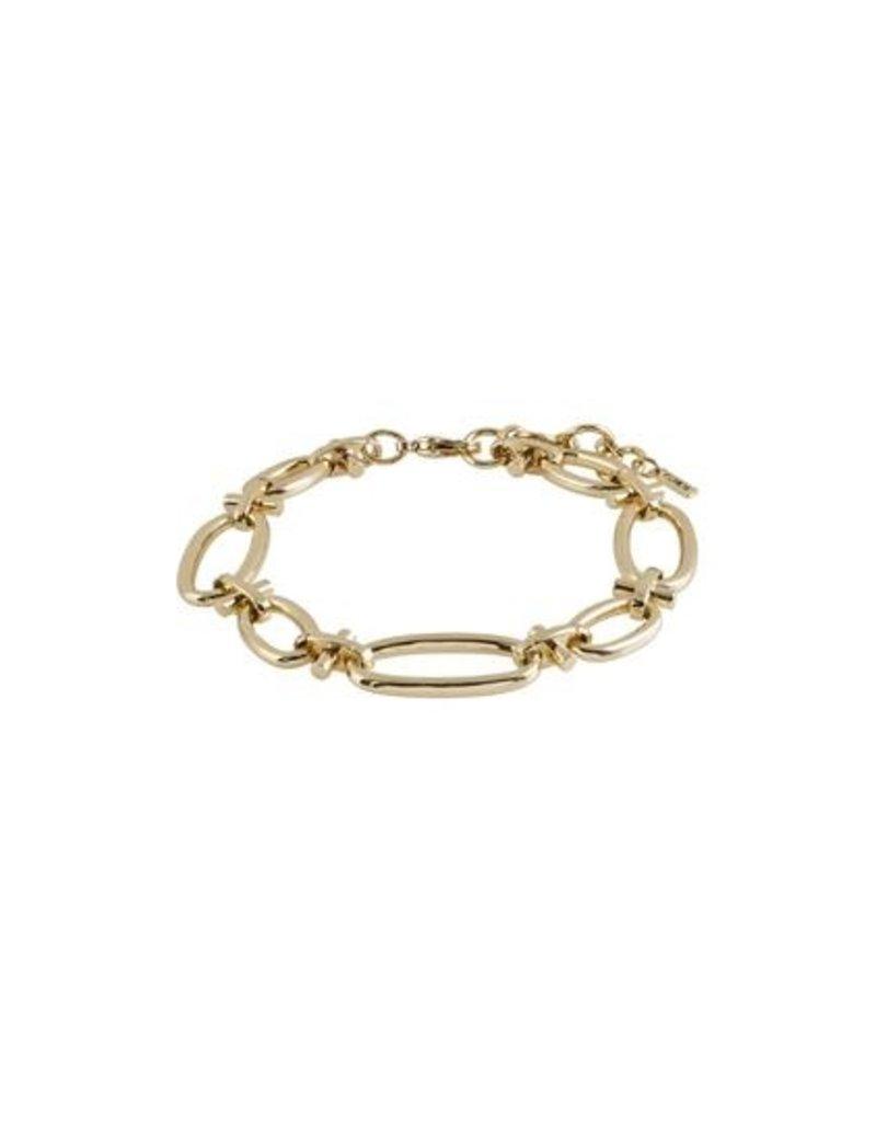 Wisdom Gold Link Bracelet