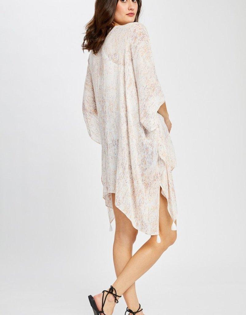 Heron Kimono with sleeve