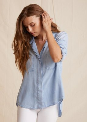 Tencel button down with split back