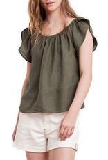 Ceila Woven Linen Cap Sleeve