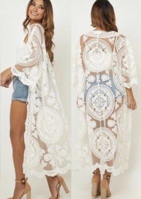 Cotton Lace Kimono LONG