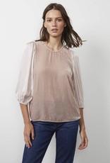 Vel Elise Silk Velvet 3/4 sleeve