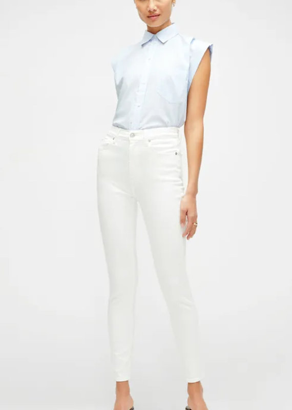 7FMK Slim Illusion High Waist Ankle Skinny in Luxe White
