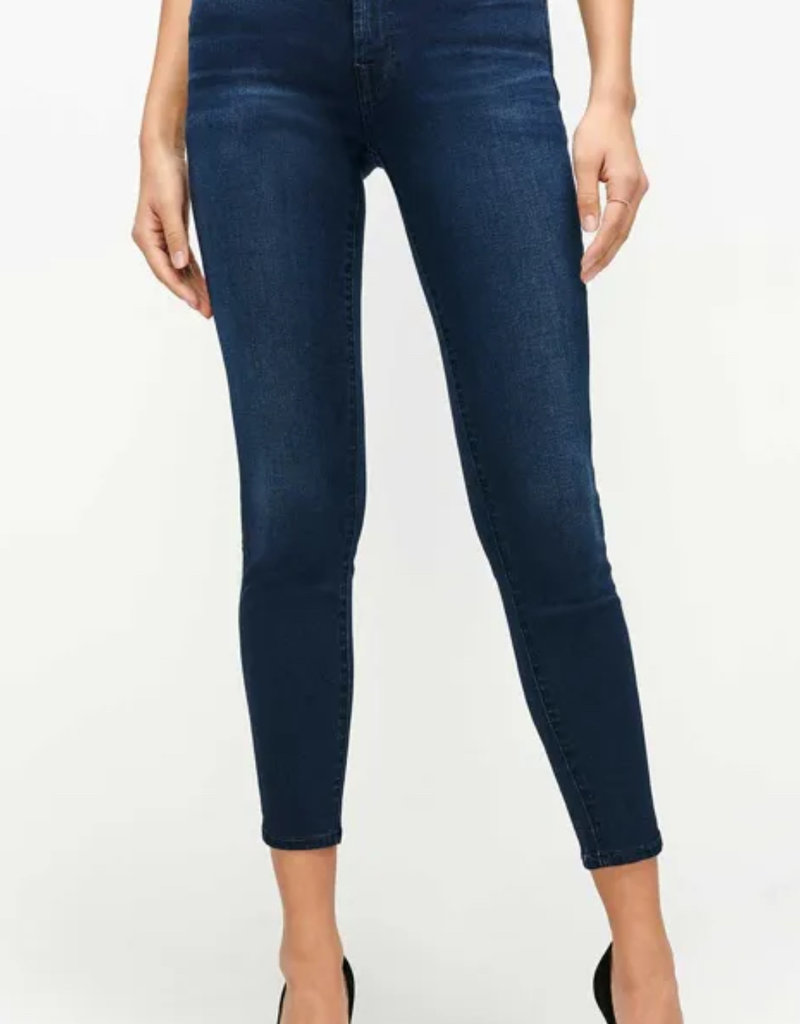 7FMK SLIM ILLUSION HIGH WAIST ANKLE SKINNY IN TWILIGHT BLUE