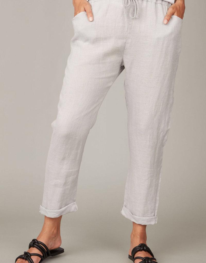 Pistache Straight Linen Pant