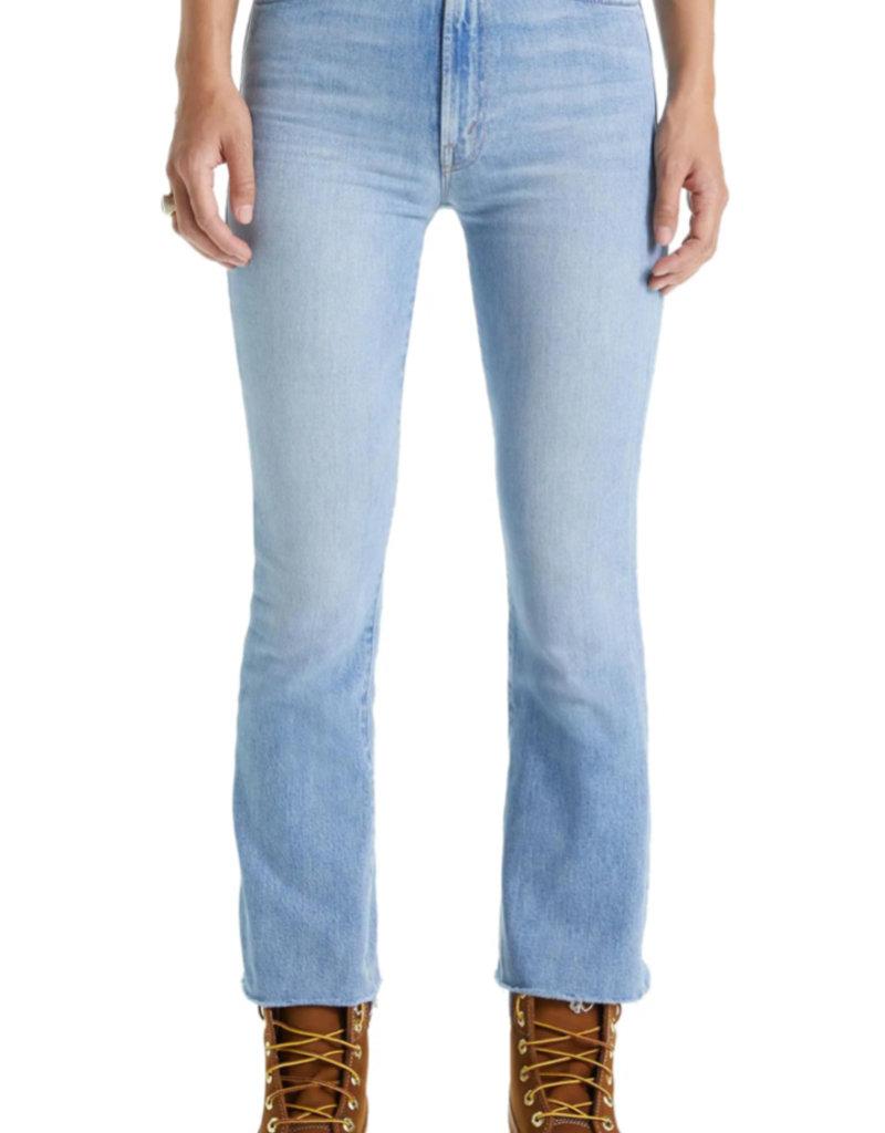 The Hustler High Waist Frayed Ankle Bootcut Jeans