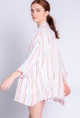 PJ Stripe Kimono
