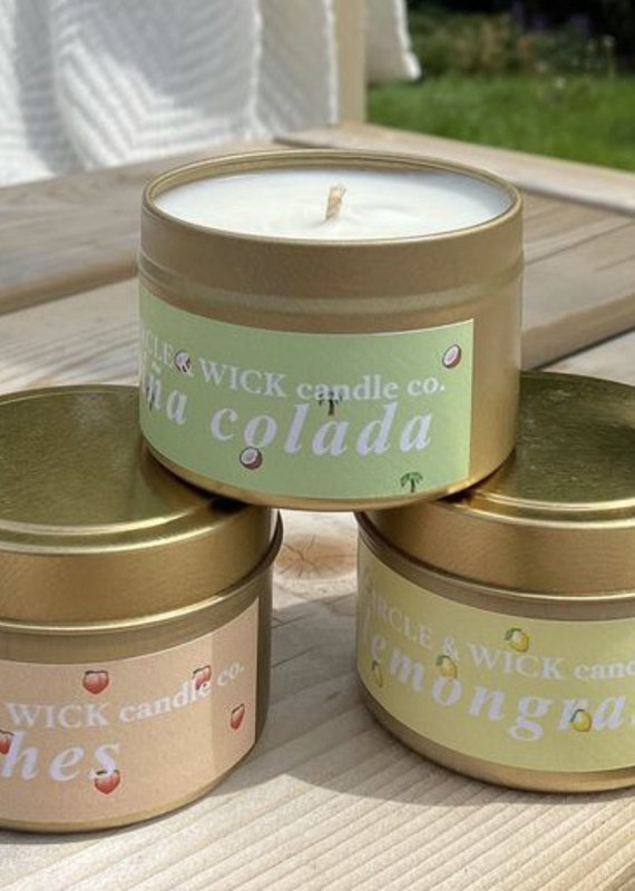 C&W Gold Tin Candle