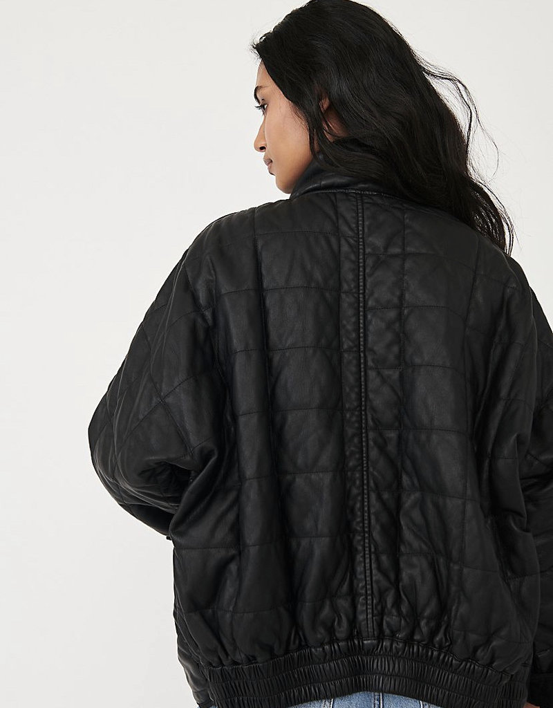 FP Quilted Dolman Vegan Leather