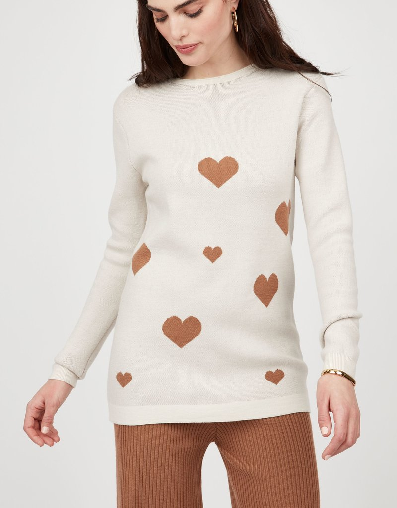 Pistache Heart Knitted Sweater