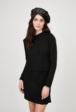 Pistache Cropped Knit Hoodie
