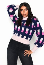 GLAM AN4028 Check Pullover