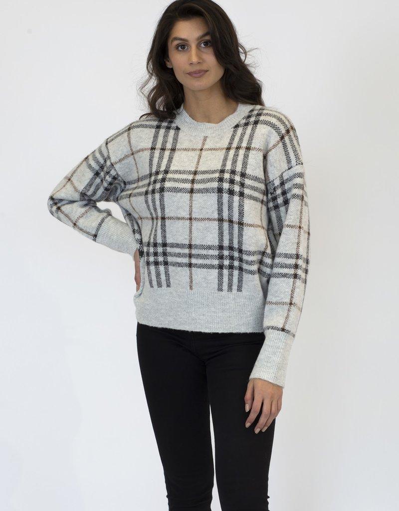 L + L Jensen Plaid Sweater
