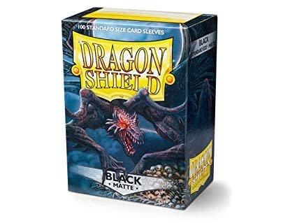 Arcane Tinmen Dragon Shields: (100) Matte, Black