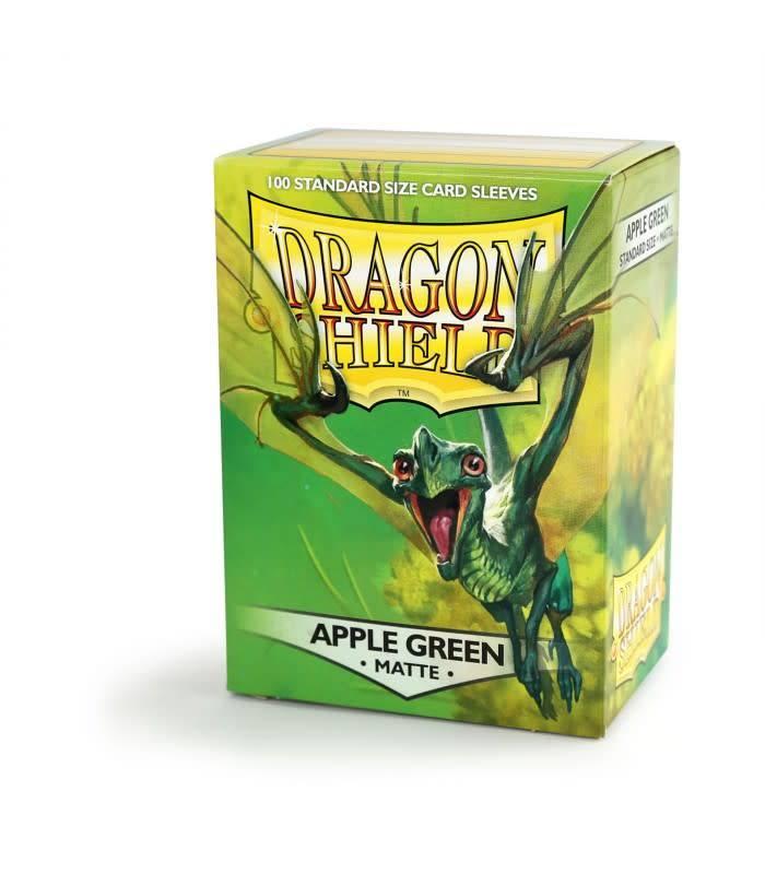 Arcane Tinmen Dragon Shields: (100) Matte, Apple Green