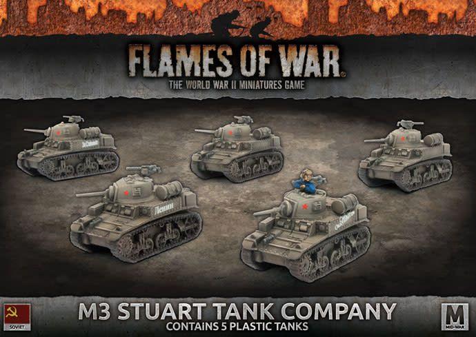 Flames of War Flames of War: Soviet- M3 Stuart Tank Company (mid)