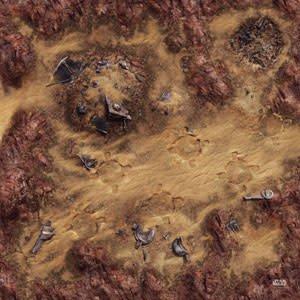 Fantasy Flight Star Wars Legion: Desert Junkyard Gamemat
