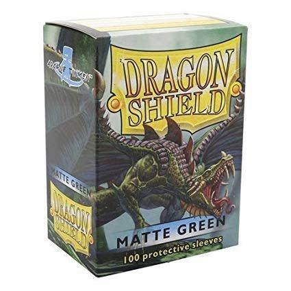Arcane Tinmen Dragon Shields: (100) Matte, Green
