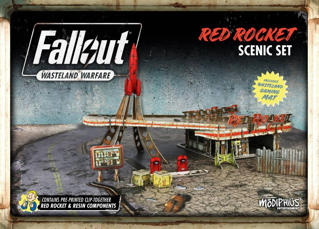 Modiphius Fallout Wasteland Warfare: Red Rocket Scenic Set