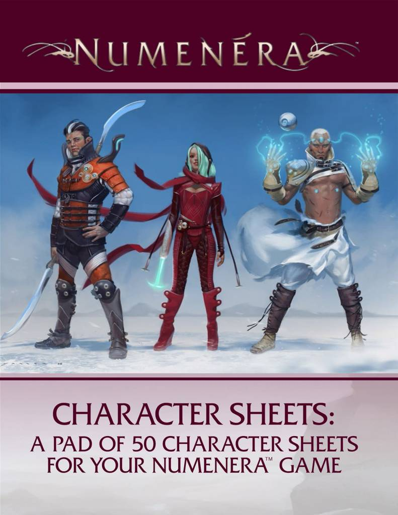 Monte cook Numenera RPG: Character Sheets