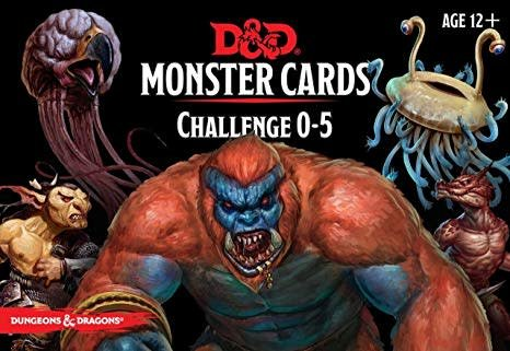 Wizards of the Coast D&D RPG Monster Cards: Challenge 0-5