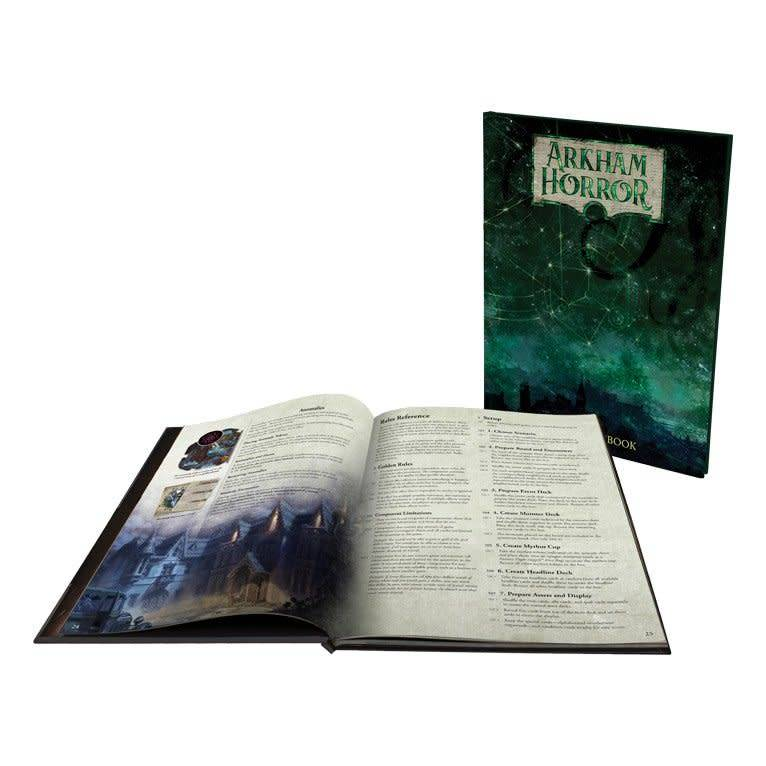 Fantasy Flight Arkham Horror Deluxe Rulebook Boardgame