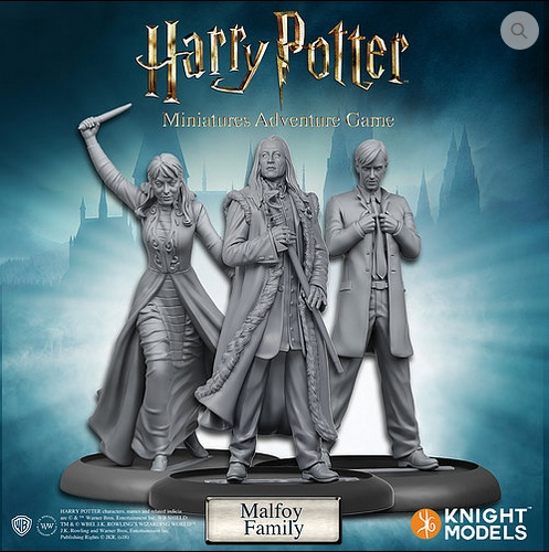 Knight Models Harry Potter Miniatures Adventure Game: Malfoy Family
