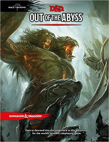 Wizards of the Coast D&D RPG Book: Out of the Abyss