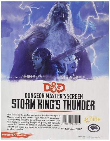 Gale Force Nine D&D RPG Dungeon Masters Screen: Storm King's Thunder