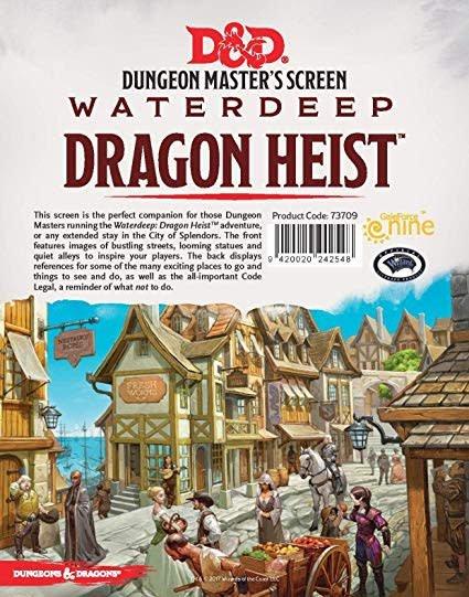 Gale Force Nine D&D RPG Dungeon Masters Screen: Waterdeep Dragon Heist