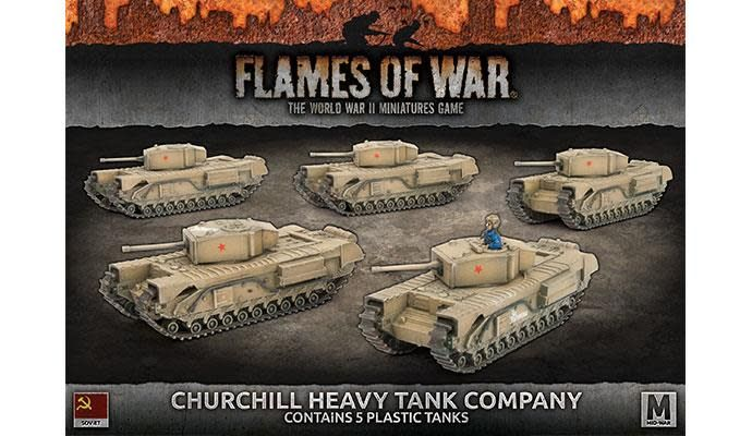 Flames of War Flames of War: Soviet- Churchill Heavy tank Company (mid)