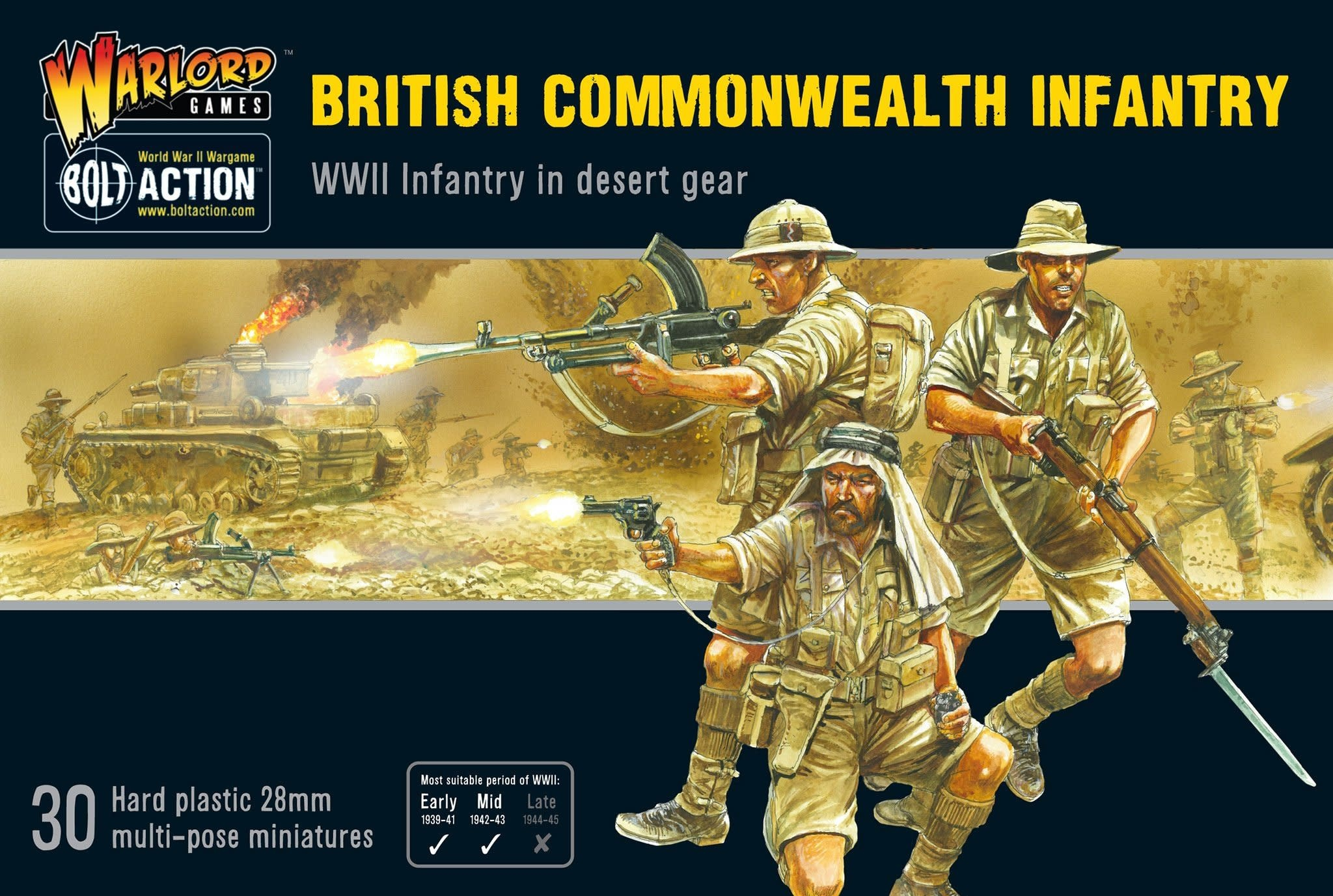 Warlord games Bolt Action: British- Commonwealth Infantry