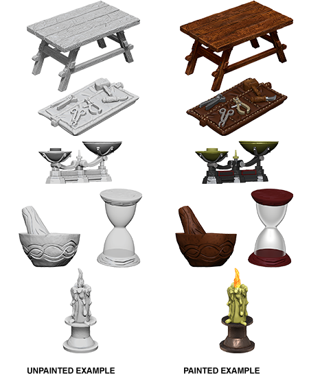 Wizkids D&D Deep Cuts Miniature: Workbench & Tools