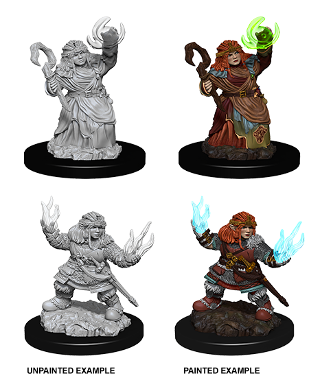 Wizkids Pathfinder Miniature: Female Dwarf Summoner