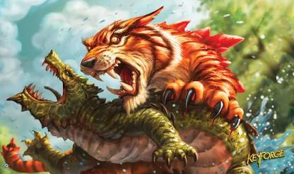 Fantasy Flight Keyforge: Playmat Mighty Tiger