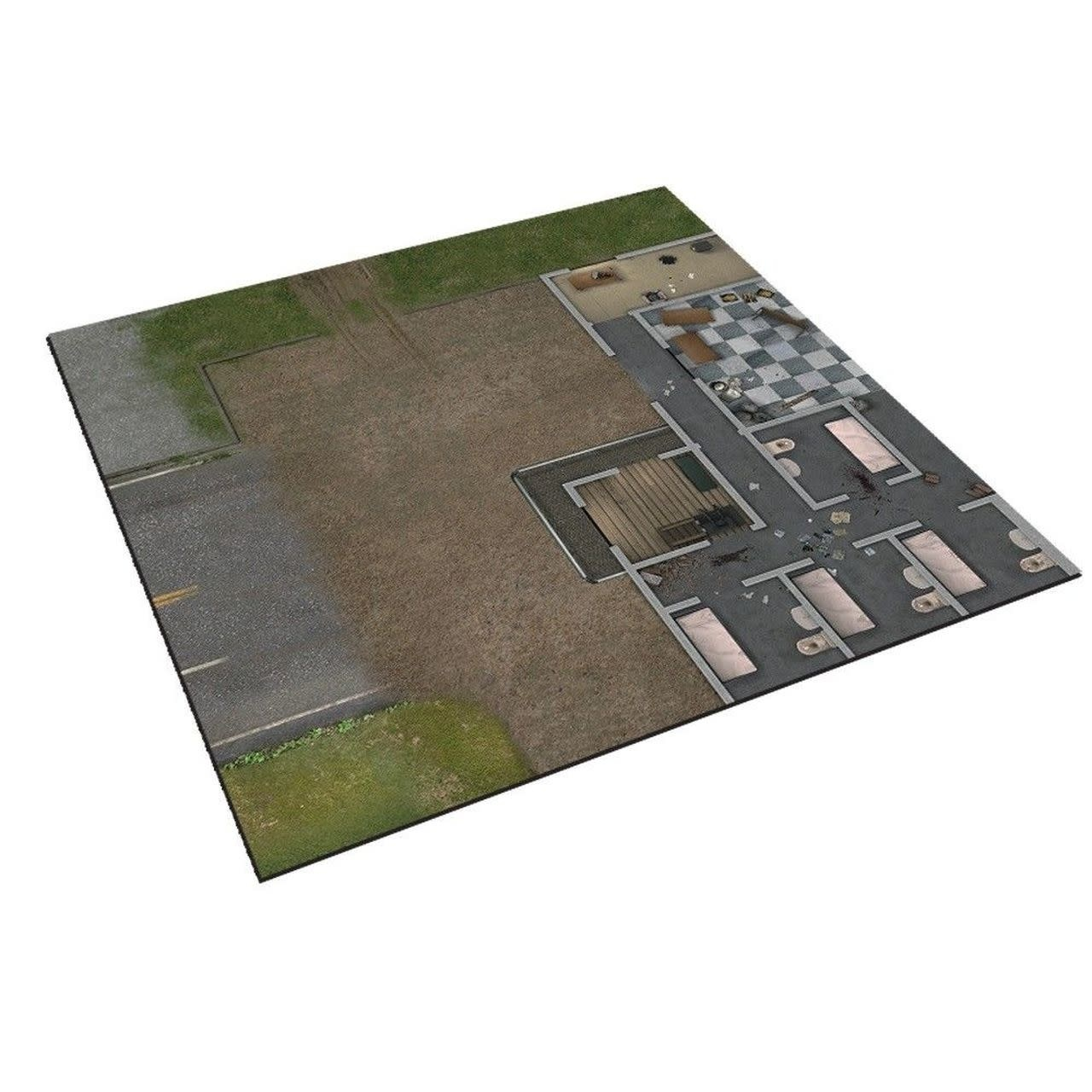 Mantic The Walking Dead All Out War: Deluxe Mat - The Prison