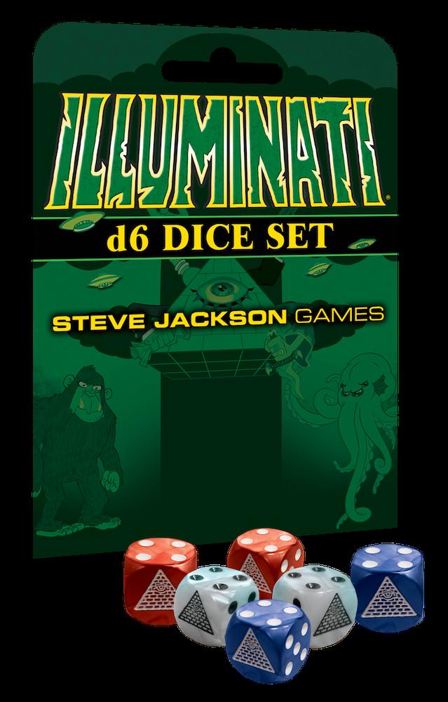 Steve Jackson Illuminati Dice: (6) D6 Dice set