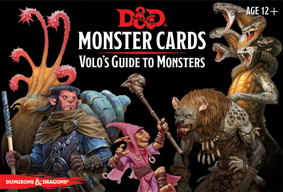 Gale Force Nine D&D RPG Monster Cards: Volo's Guide