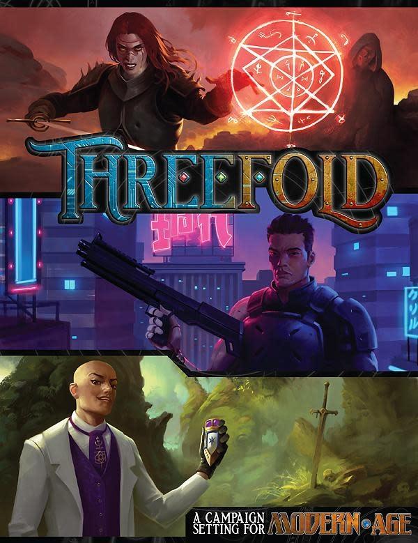 Green Ronin Publishing Modern Age RPG: Threefold Campaign setting