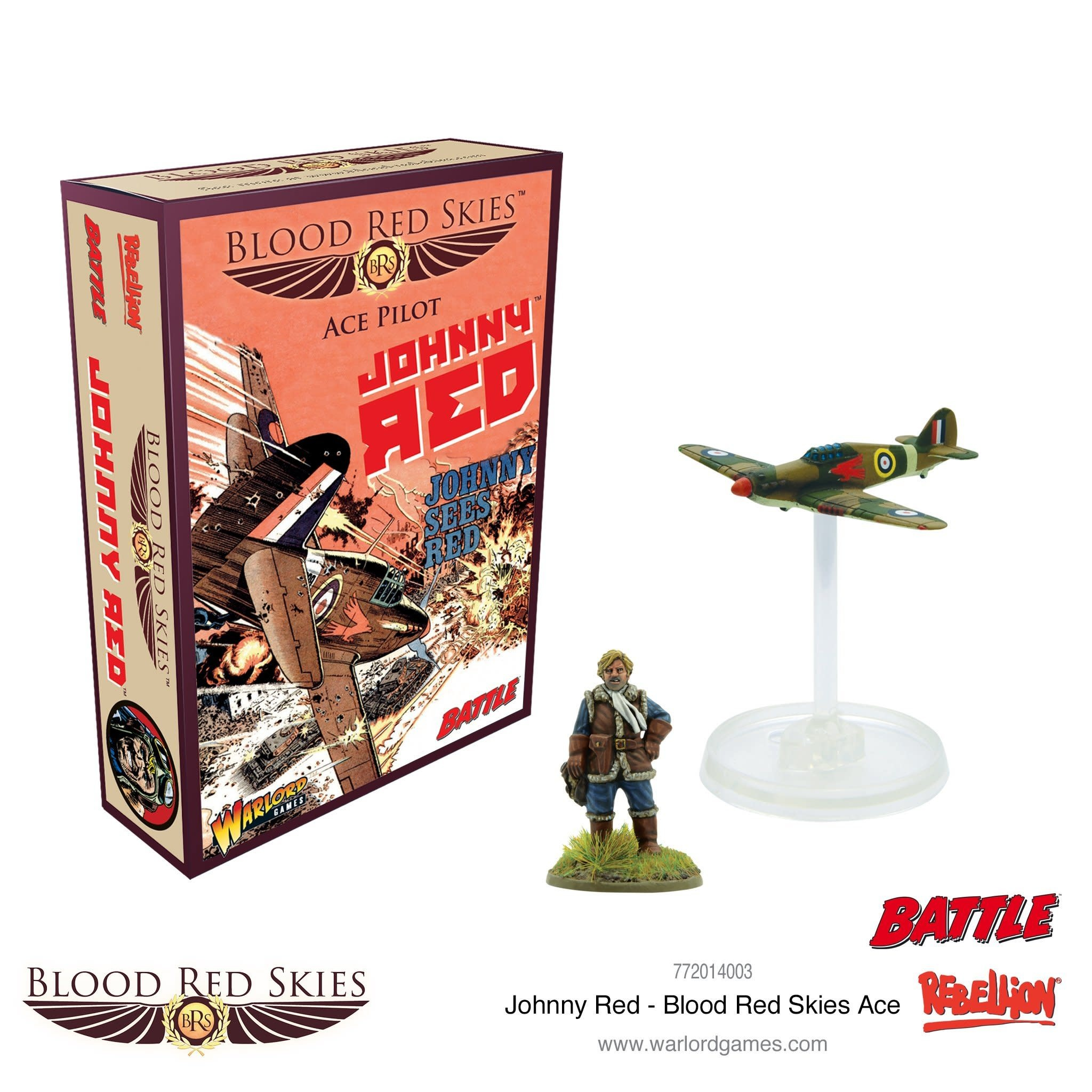 Warlord games Blood Red Skies: British, Ace Pilot Johnny Red
