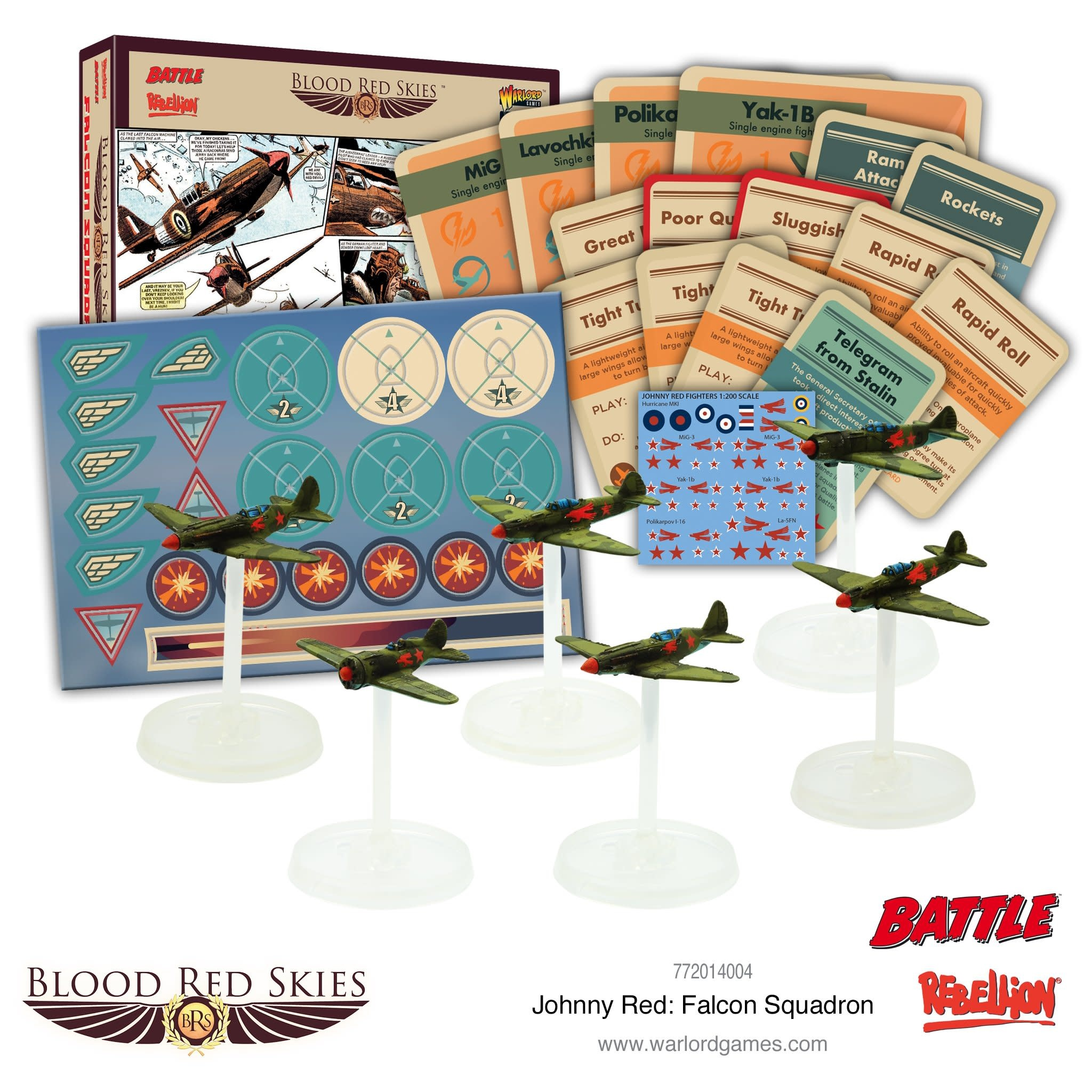 Warlord games Blood Red Skies: British, Johnny Red Falcon Squadron