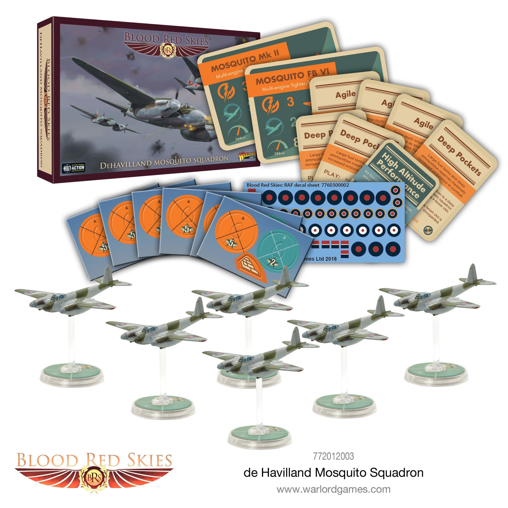 Warlord games Blood Red Skies: British, DeHavilland Mosquito Squadron