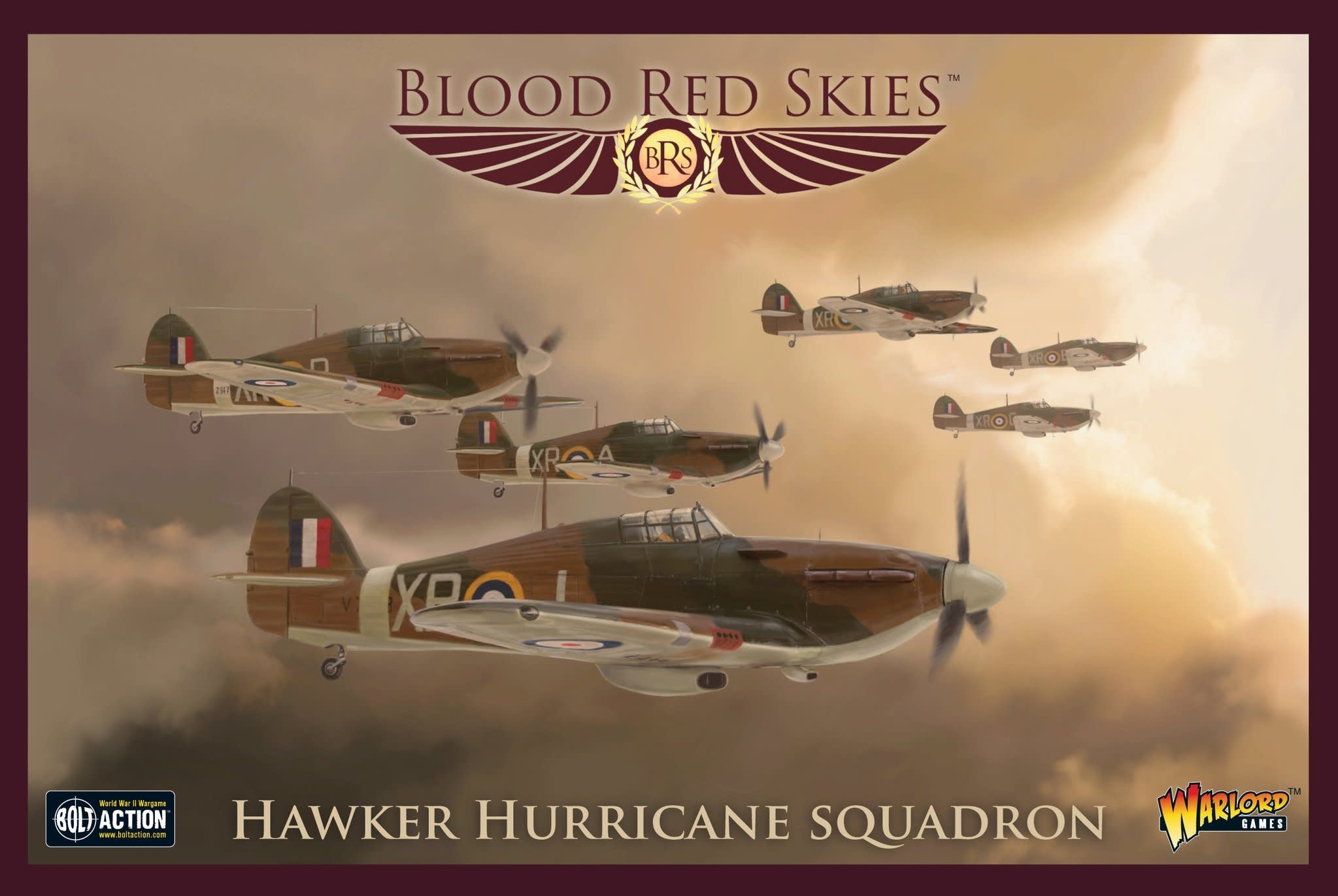 Warlord games Blood Red Skies: British, Hawker Hurricane Squadron