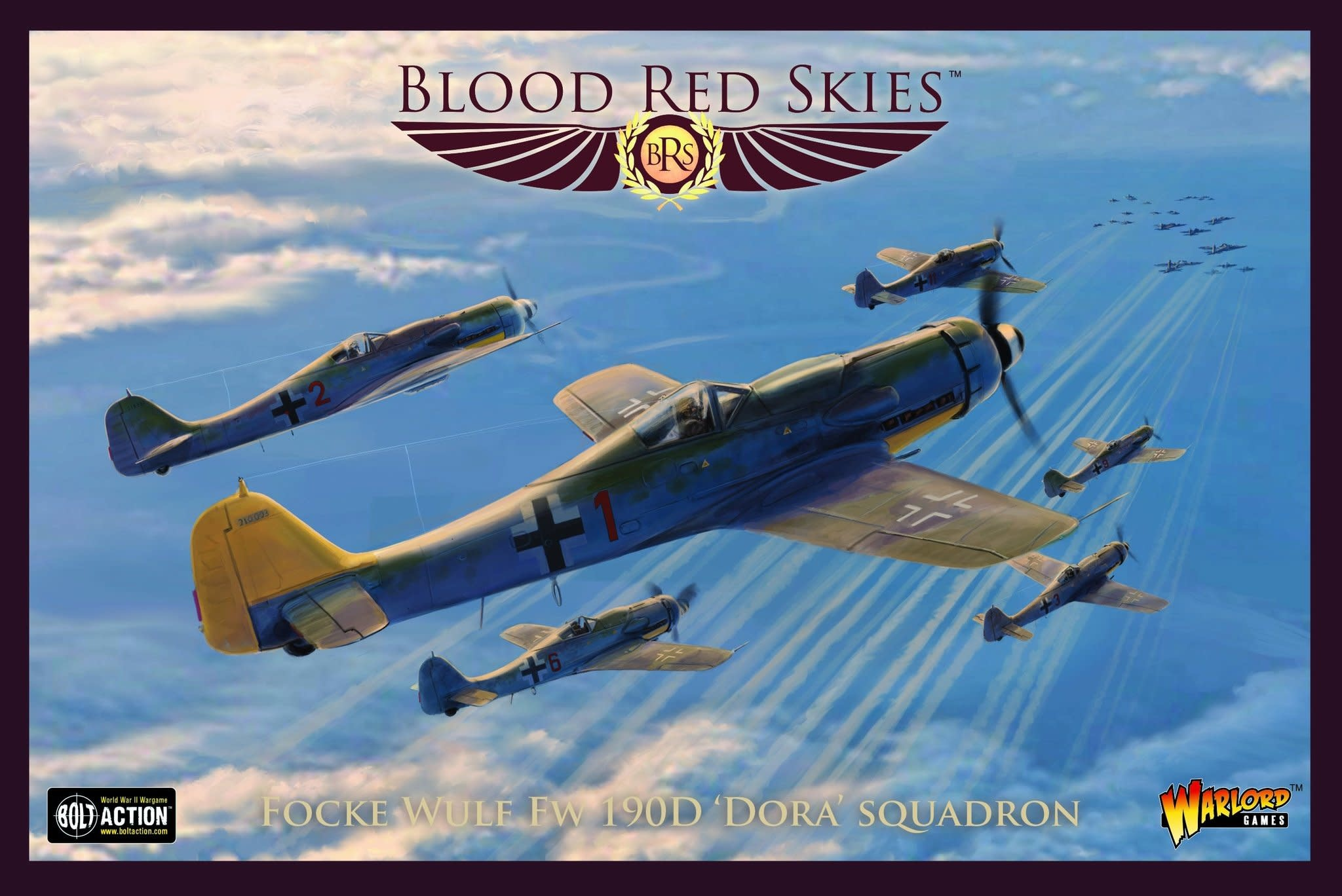 Warlord games Blood Red Skies:  Focke Wulf FW 190D Dora squadron