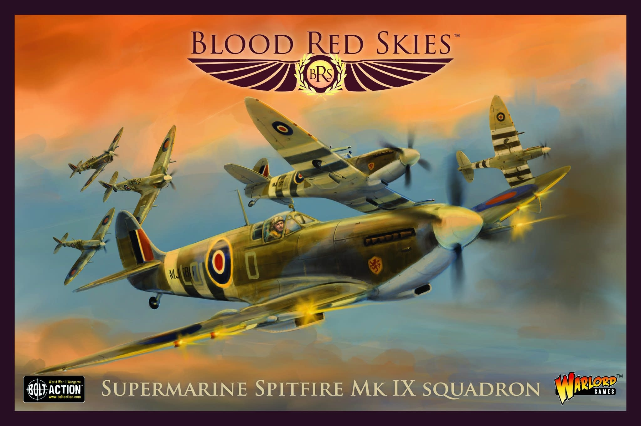 Warlord games Blood Red Skies: Supermarine Spitfire Mk. IX Squadron