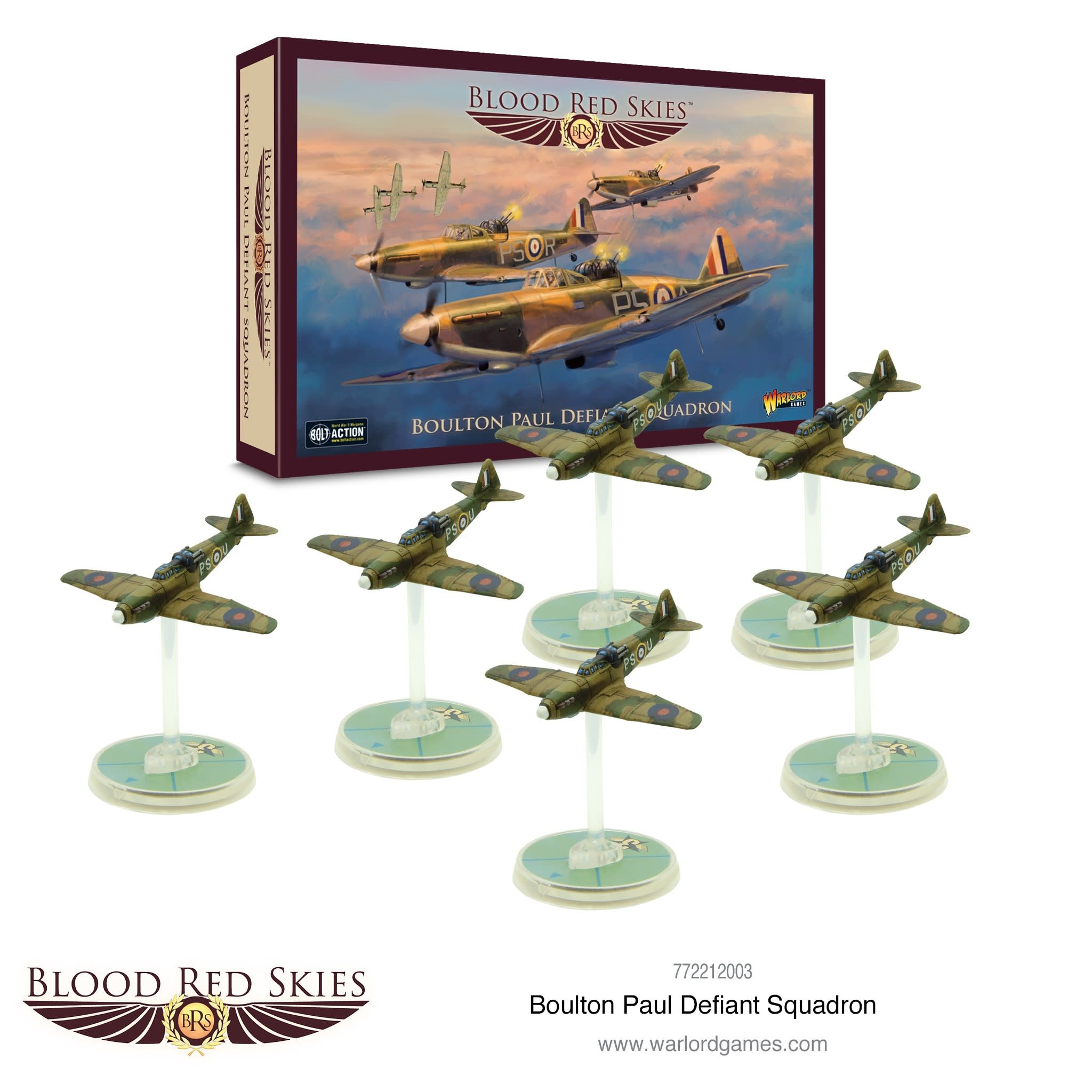 Warlord games Blood Red Skies: Boulton Paul Defiant Squadron