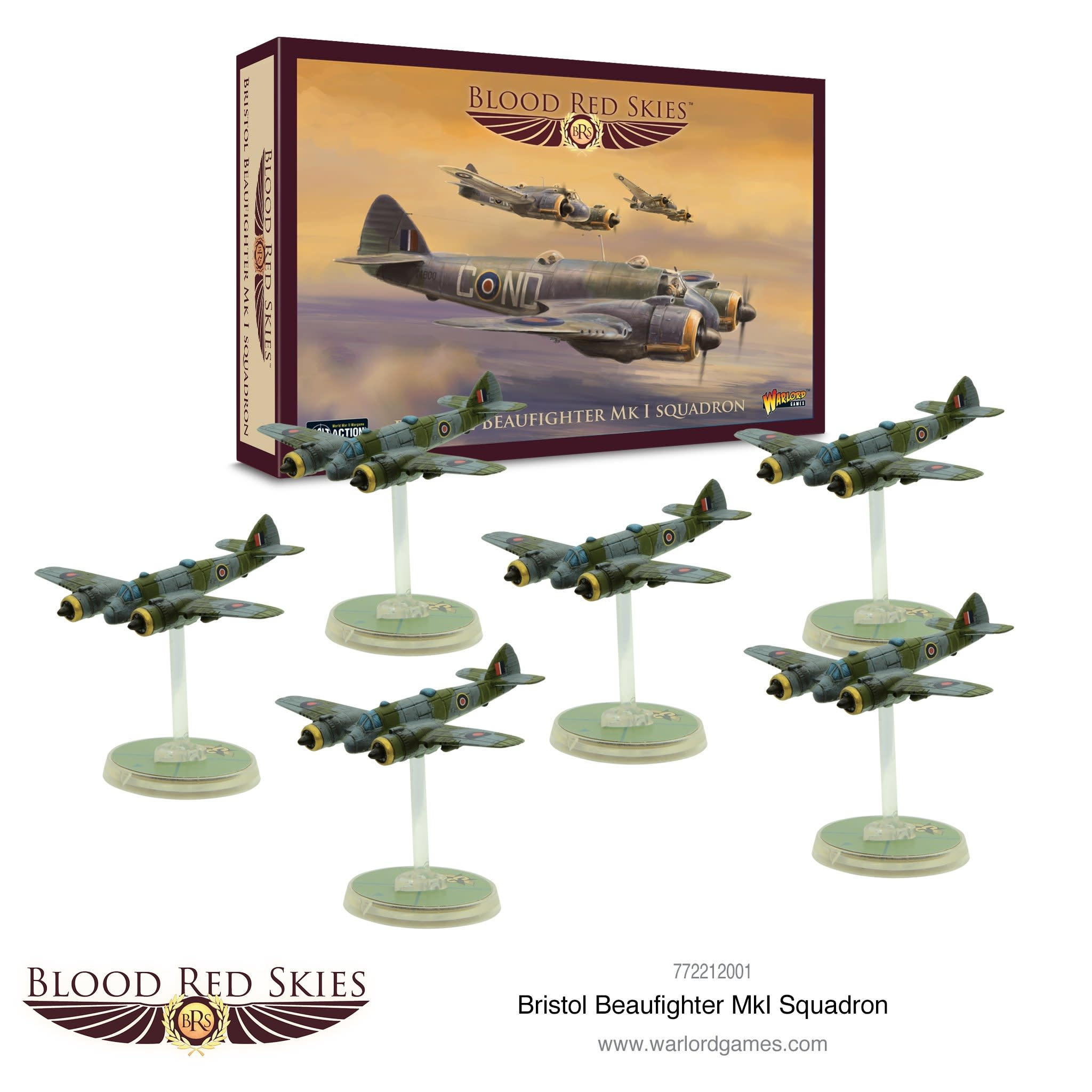 Warlord games Blood Red Skies: Bristol Beaufigher Mk I Squadron