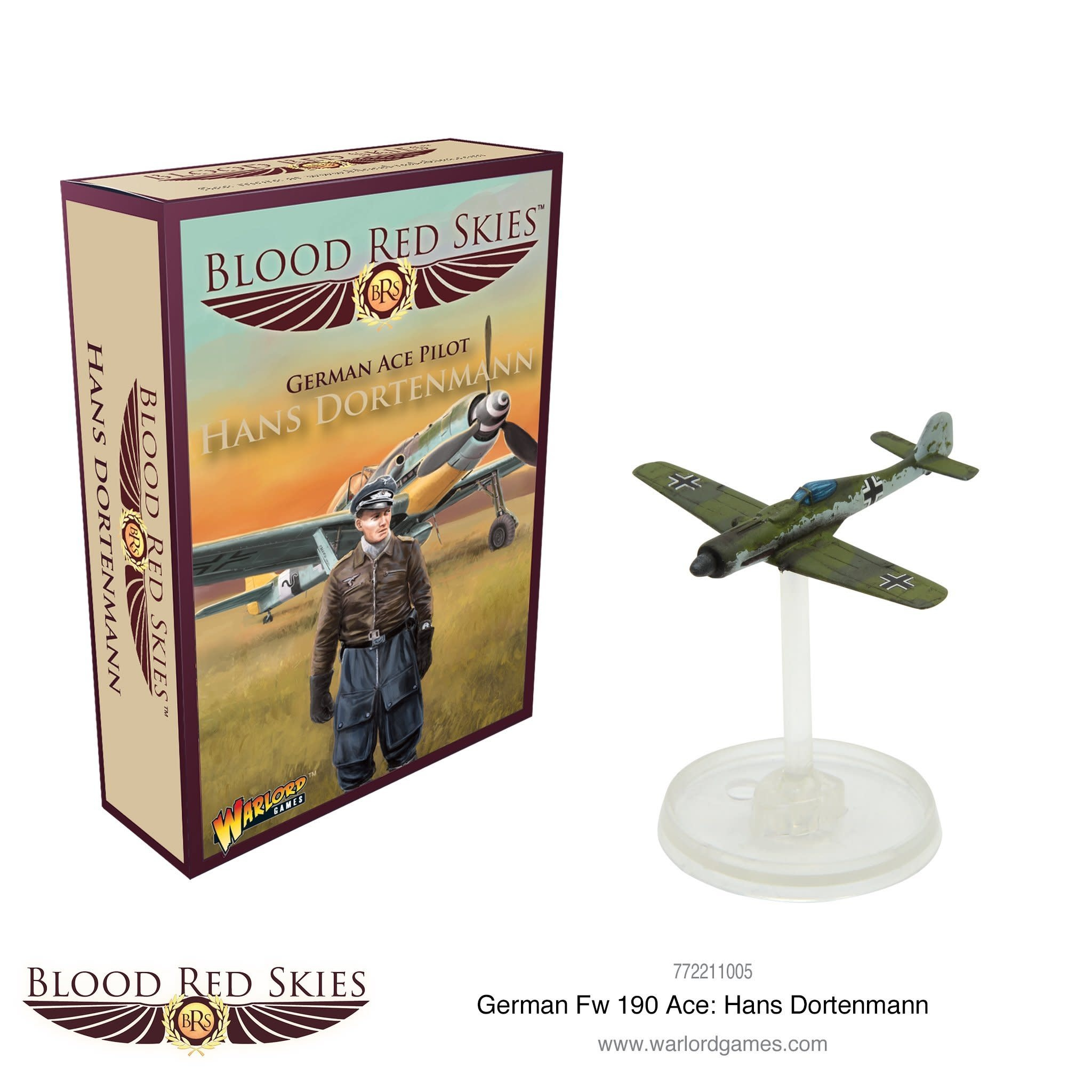 Warlord games Blood Red Skies: German Ace piolt Hans Dortenmann