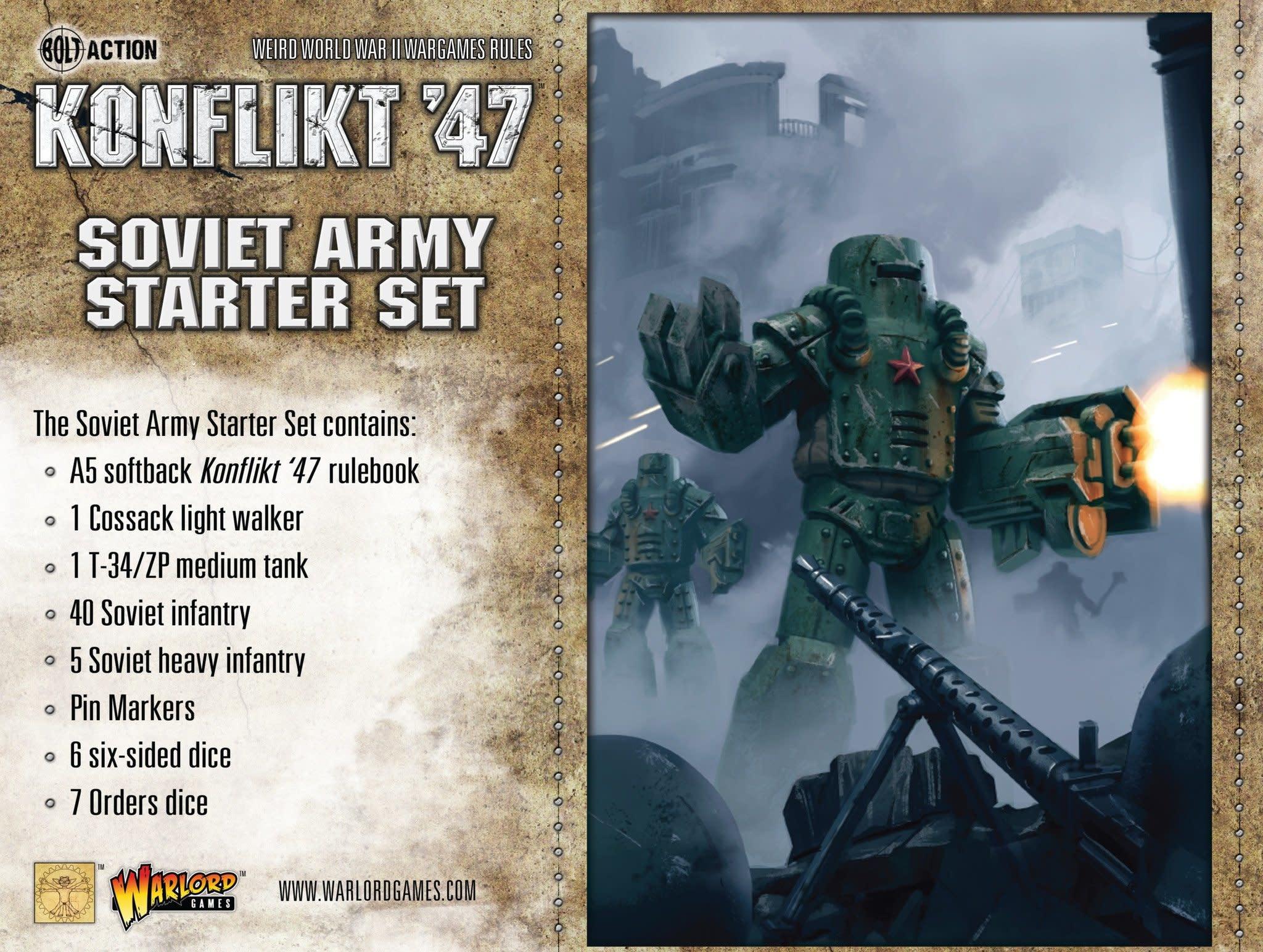 Warlord games Konflikt '47: Soviet- Army Starter Set