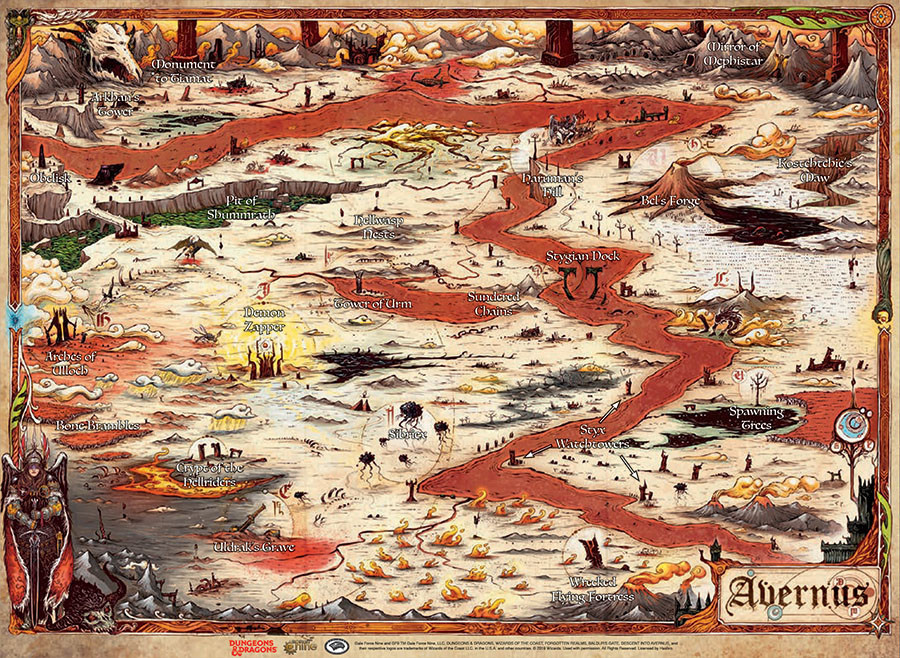 Gale Force Nine D&D RPG Map: Descent into Avernus